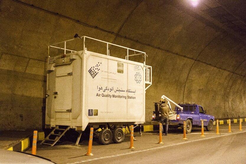 اعلام نتایج پروژه اندازه گیری آلودگی هوا در تونل نیایش