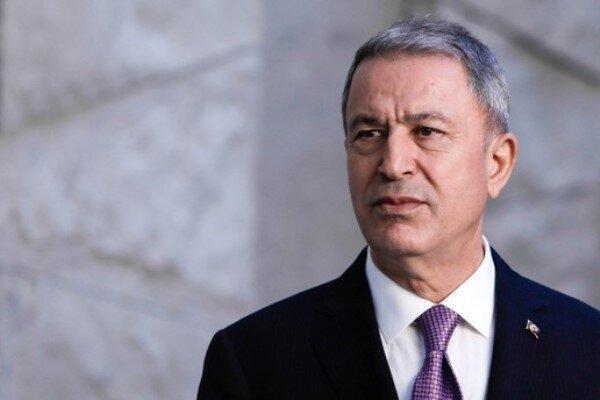 وزیر دفاع ترکیه با همتای آمریکایی خود درباره سوریه تبادل نظر کرد