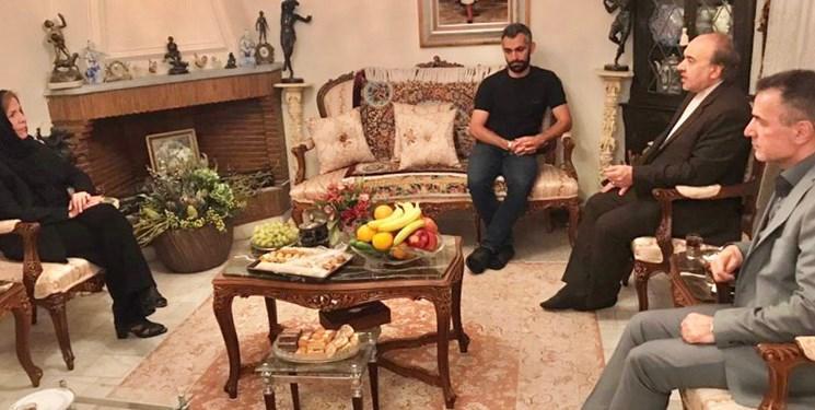 سلطانی فر و انصاری فرد در منزل مرحوم کاشانی