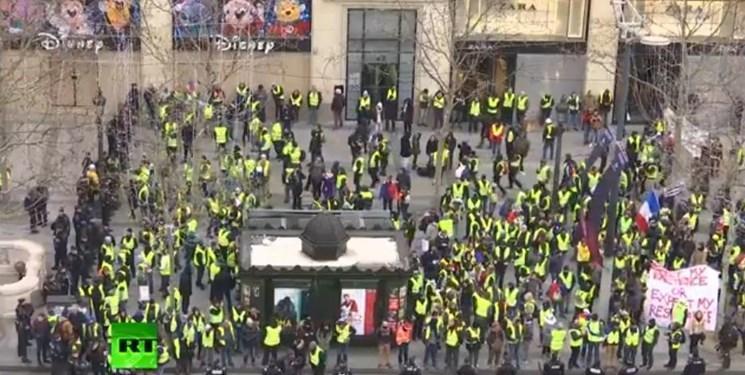 10 بازداشتی و 6 مجروح در پنجاه ودومین تظاهرات جلیقه زردها در فرانسه