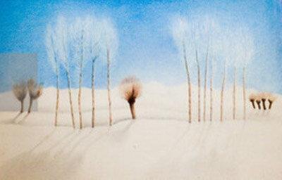 گزارشی از نمایشگاه نقاشی های عباس کیارستمی در گالری گلستان