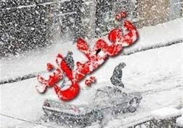 برف برخی از مدارس همدان را به تعطیلی کشاند