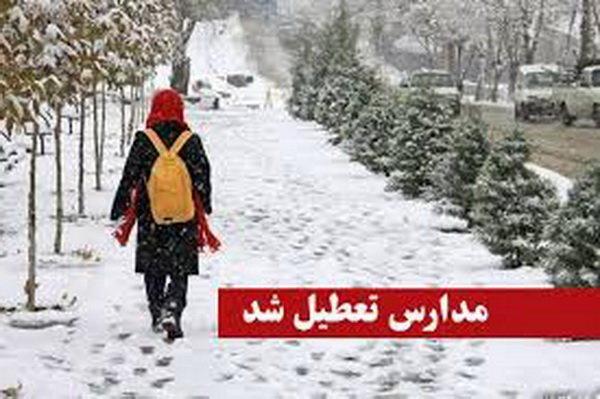 برف، مدارس زنجان را تعطیل کرد