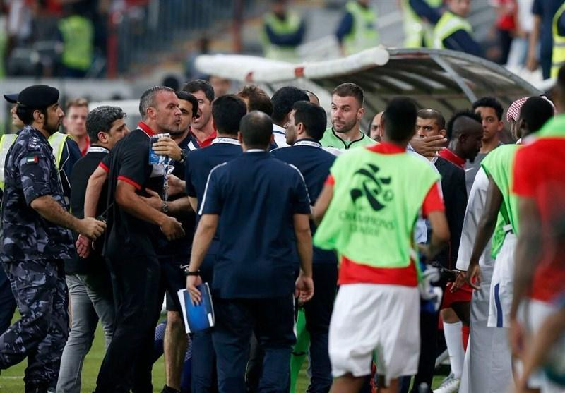 ناظر بازی درگیری مربی پرسپولیس را به AFC گزارش داد