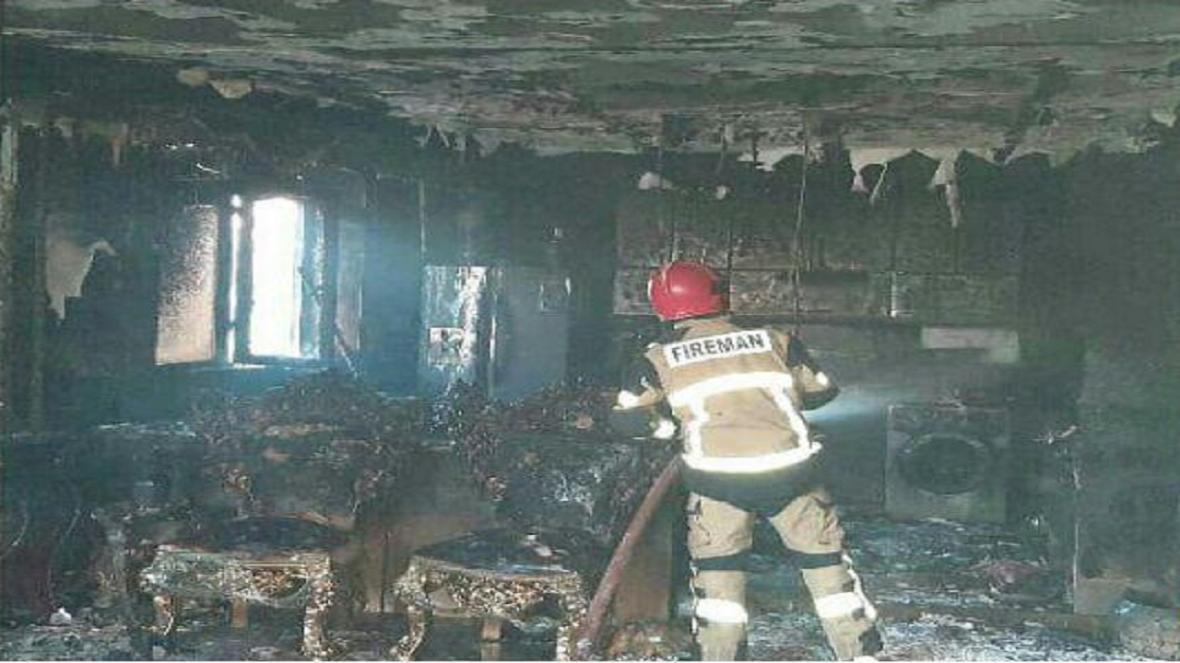 آتش سوزی منزل مسکونی در قزوین