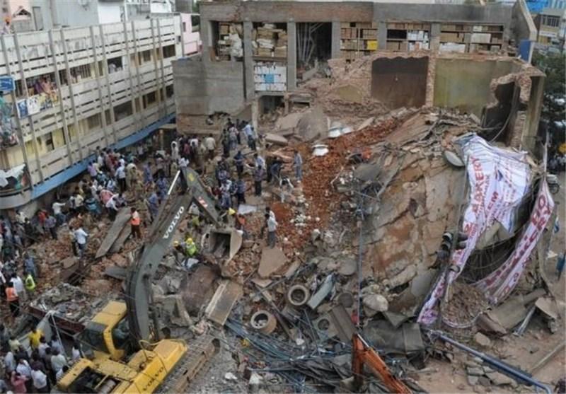 افزایش تلفات ریزش ساختمان در هند به 16 کشته