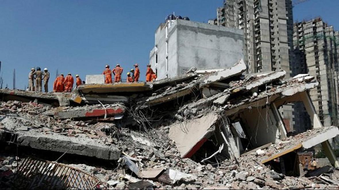 ریزش ساختمان در شرق هند 70 نفر را زیر آوار گرفتار کرد