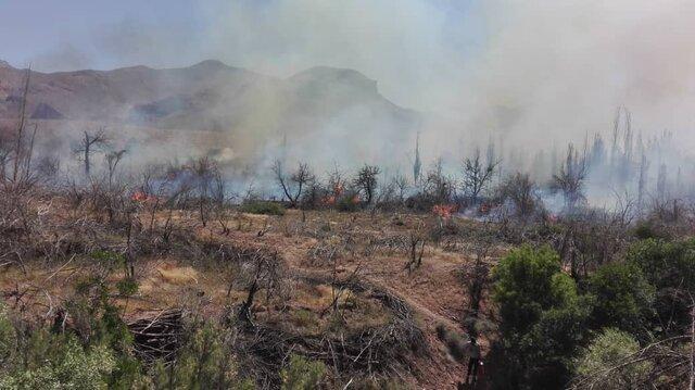 آتش سوزی در کوهپایه های دارآباد