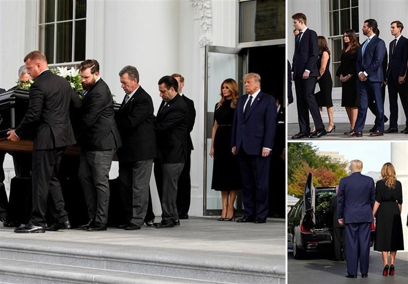 برگزاری تشییع جنازه برادر ترامپ در کاخ سفید بدون رعایت پروتکل های بهداشتی