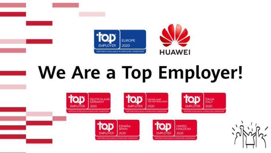 با اعلام رسمی Top Employers Institute: هوآوی کارفرمای برتر اروپا در 2020 شد