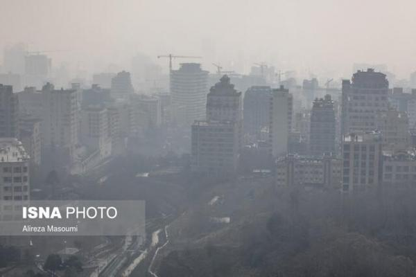 آسمان پایتخت؛ همچنان آلوده و غبارآلود