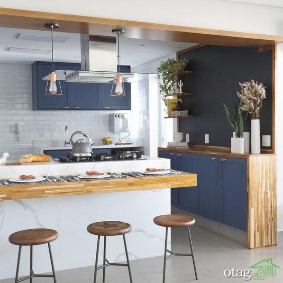 ایده های جذاب تزیین اپن آشپزخانه در منازل قدیمی و جدید