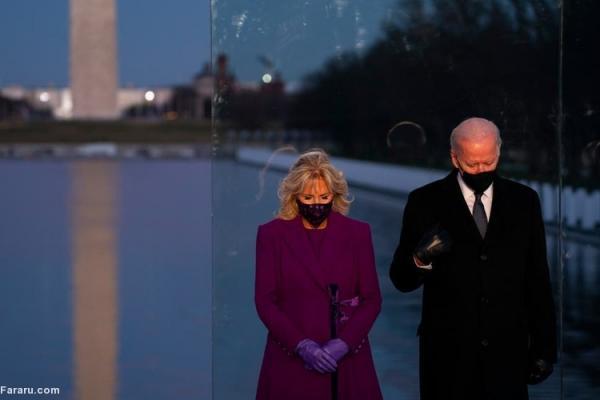 (ویدئو) بایدن و هریس در مراسم یادبود قربانیان کرونا