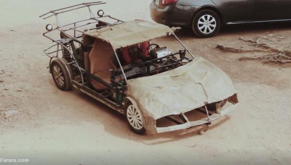 (ویدئو) ساخت خودرو با آهن قراضه!