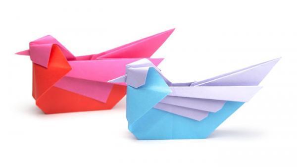آموزش ساخت اوریگامی پرنده به 3 روش