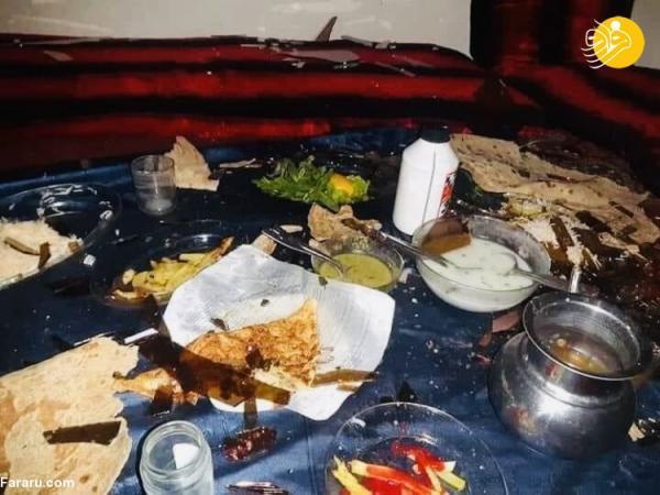 (تصاویر) انفجار به وقت افطار